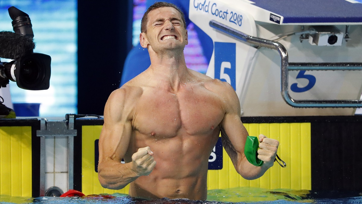 Swimming - Gold Coast 2018 Commonwealth Games - Men's 50m Breaststroke - Final - Optus Aquatic Centre - Gold Coast, Australia - April 9, 2018. Cameron Van Der Burgh of South Africa. REUTERS/David Gray - UP1EE490VNLND