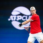 O tenista canadense Dennis Shapovalov na final da ATP Cup em 2019. Foto: Tennis Photo Network