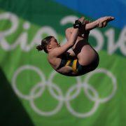A australiana Brittany O'Brien salta durante sua participação nos Jogos Olímpicos do Rio de Janeiro. Foto: Zimbo