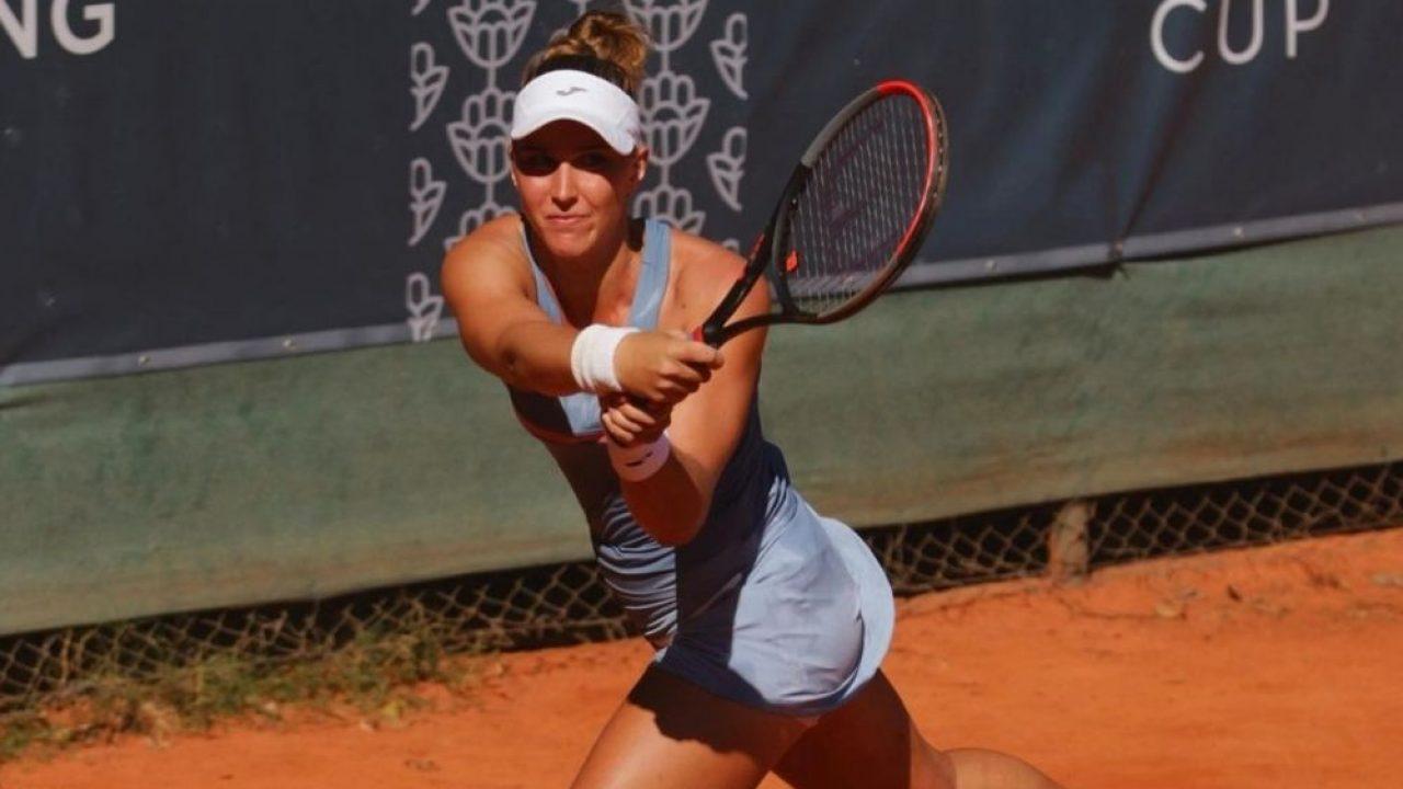 ia Haddad Maia não conseguiu sustentar a vantagem e acabou eliminada nas oitavas de final do W25 que acontece sobre o saibro de Oeiras.