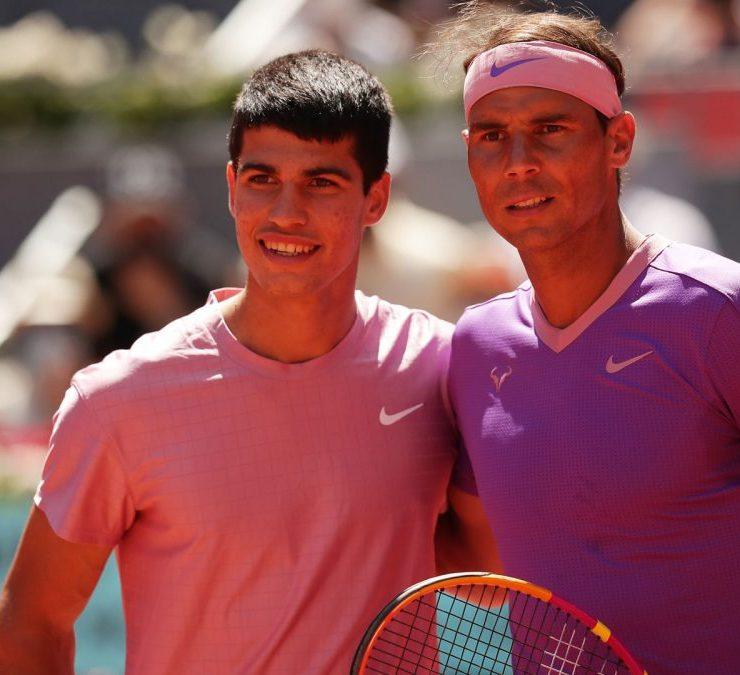 Nadal eliminou o jovem Alcaraz na segunda rodada do Masters 1000 de Madri na quarta-feira, quando completou 18 anos