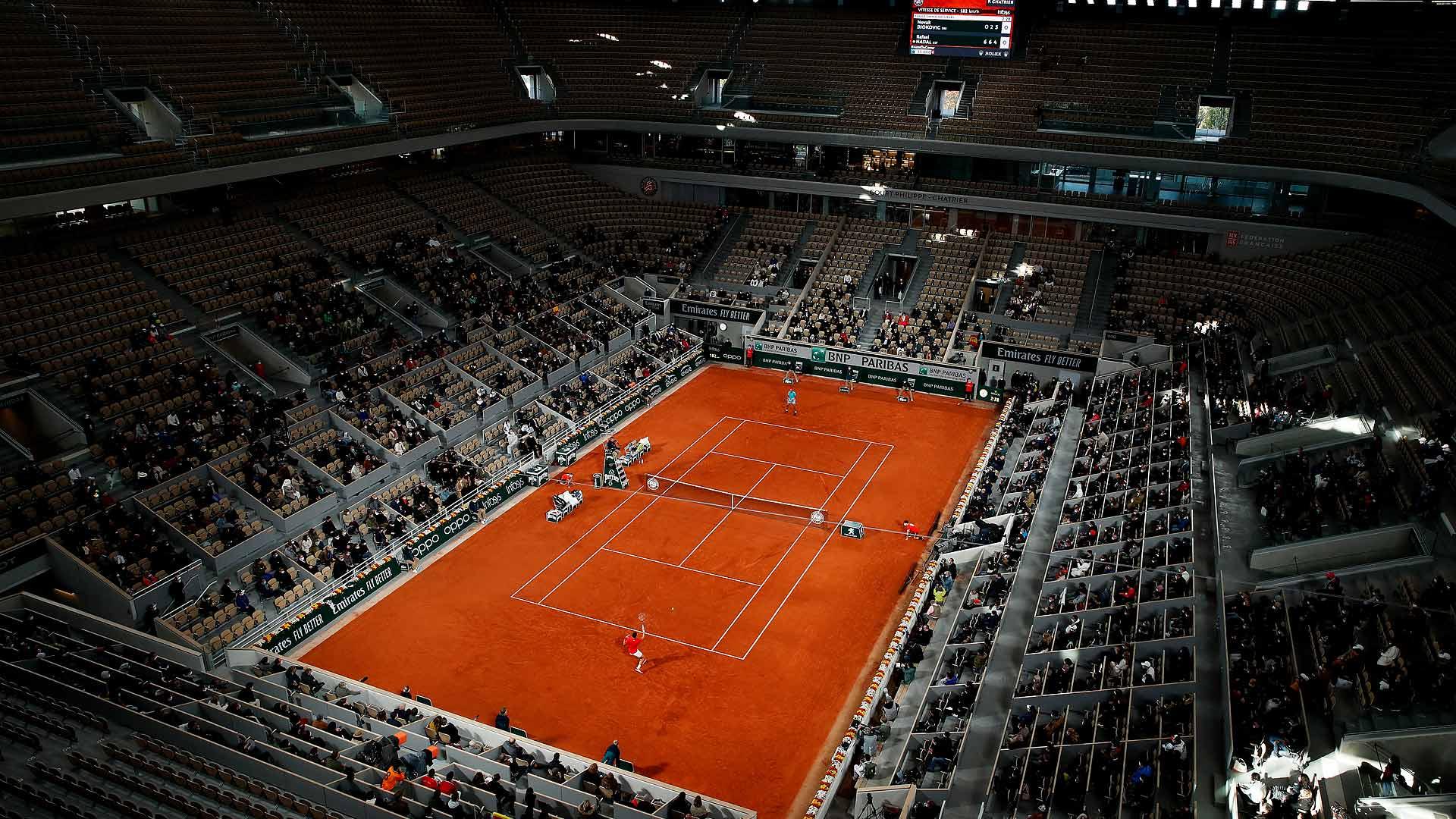 Roland Garros terá até 5.000 torcedores a partir das quartas