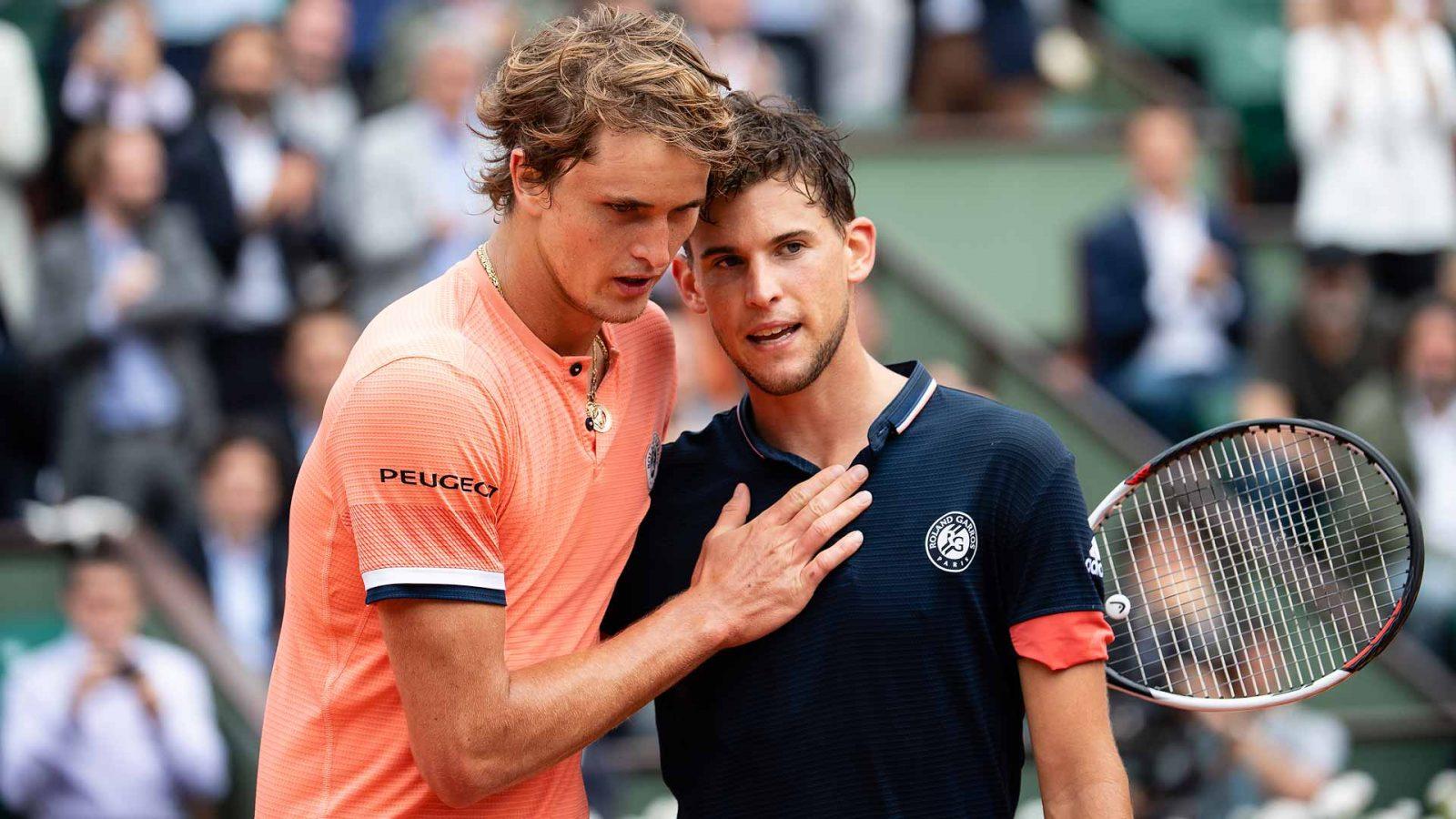 AO VIVO: Dominic Thiem e Alexander Zverev fazem semifinal Masters de Madri